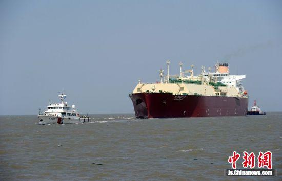 南通如东洋口港lng码头运营满7年——中国新闻网 江苏
